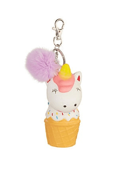 Bari Lynn Unicorn Ice Cream Fur Keychain - Product List Image