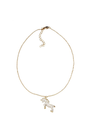 MudPie Unicorn Necklace - Side cropped