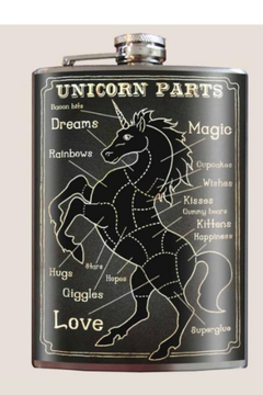 Trixie & Milo Unicorn Parts -  Vintage Flask - Alternate List Image