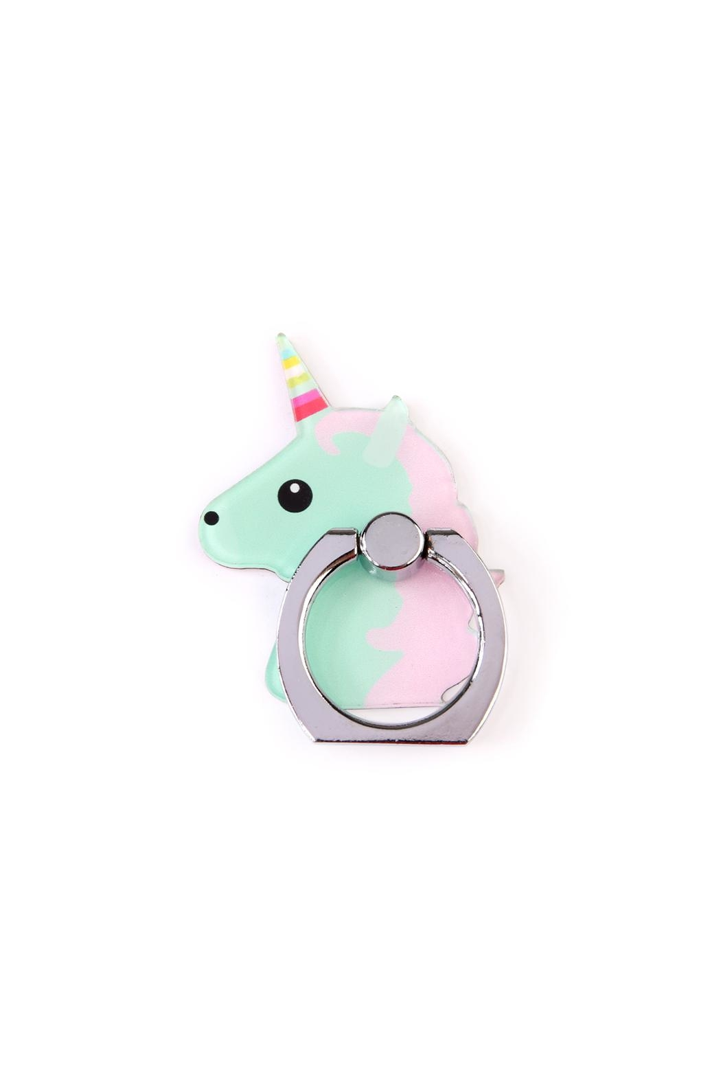 Riah Fashion Unicorn Phone Holder - Front Cropped Image