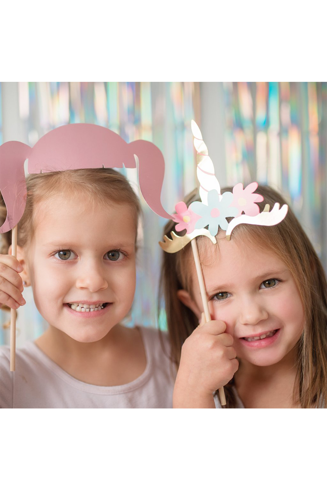 Great Pretenders  Unicorn Photo Booth Prop Set - Front Full Image