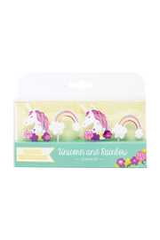 Party Partners Unicorn & Rainbow Decal Candles - Product Mini Image