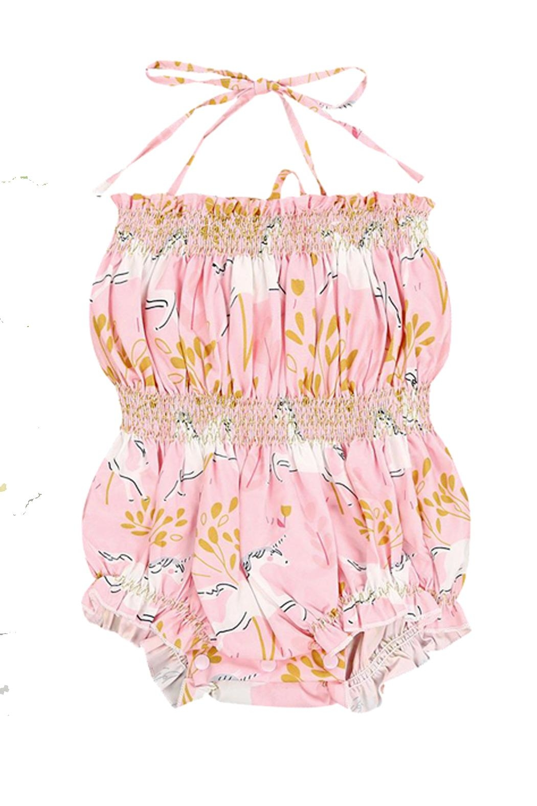 Pickles & Olive's Unicorn Romper - Front Cropped Image
