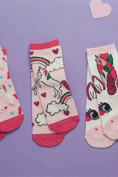 Two's Company Unicorn Sock Set - Alternate List Image