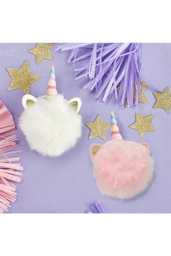 Cupcakes and Cartwheels Unicorn Sparkles Pom Pom Hair Tie - Product List Image