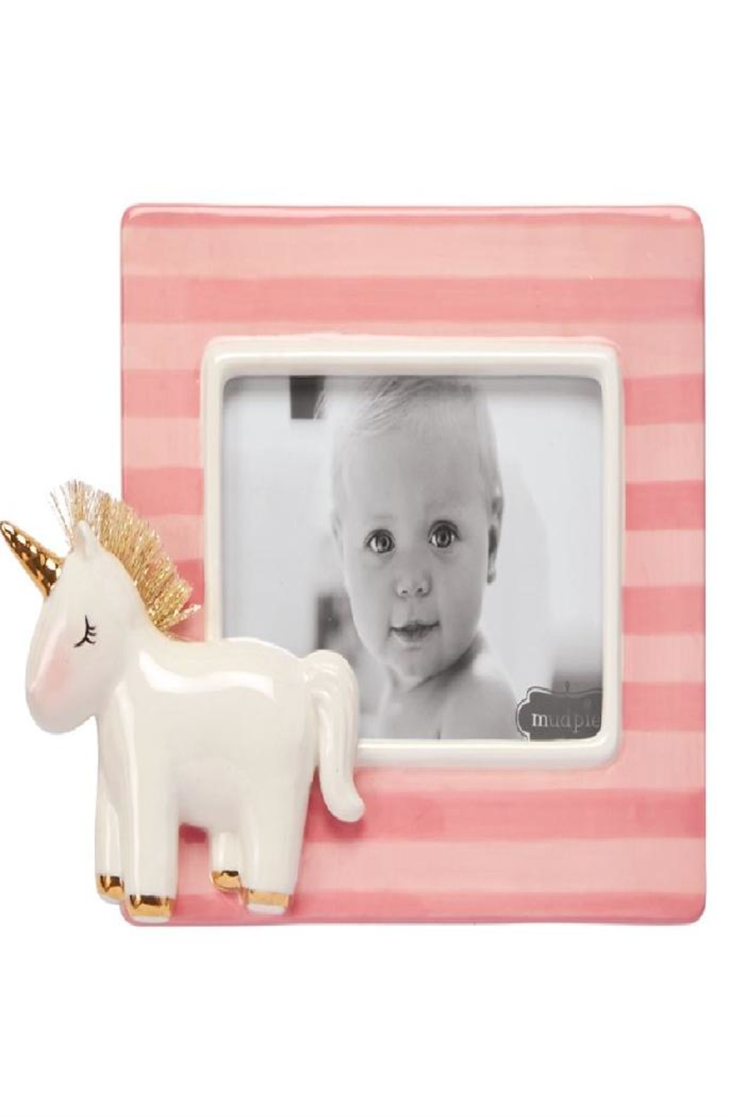Mud Pie Unicorn Stripe Frame - Main Image