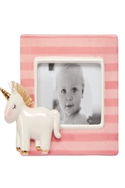 Mud Pie Unicorn Stripe Frame - Front cropped
