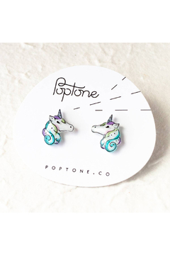 Poptone Co. Unicorn Stud Earrings - Alternate List Image