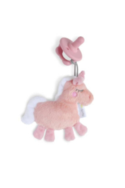 Itzy Ritzy Unicorn Sweetie Pal™ Flat Lovey + Pink Bow Pacifier - Product Mini Image