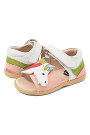 Livie & Luca Unicorn Youth Sandals - Front cropped