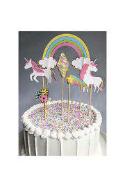 Party Partners Unicorns Cake Toppers - Front full body