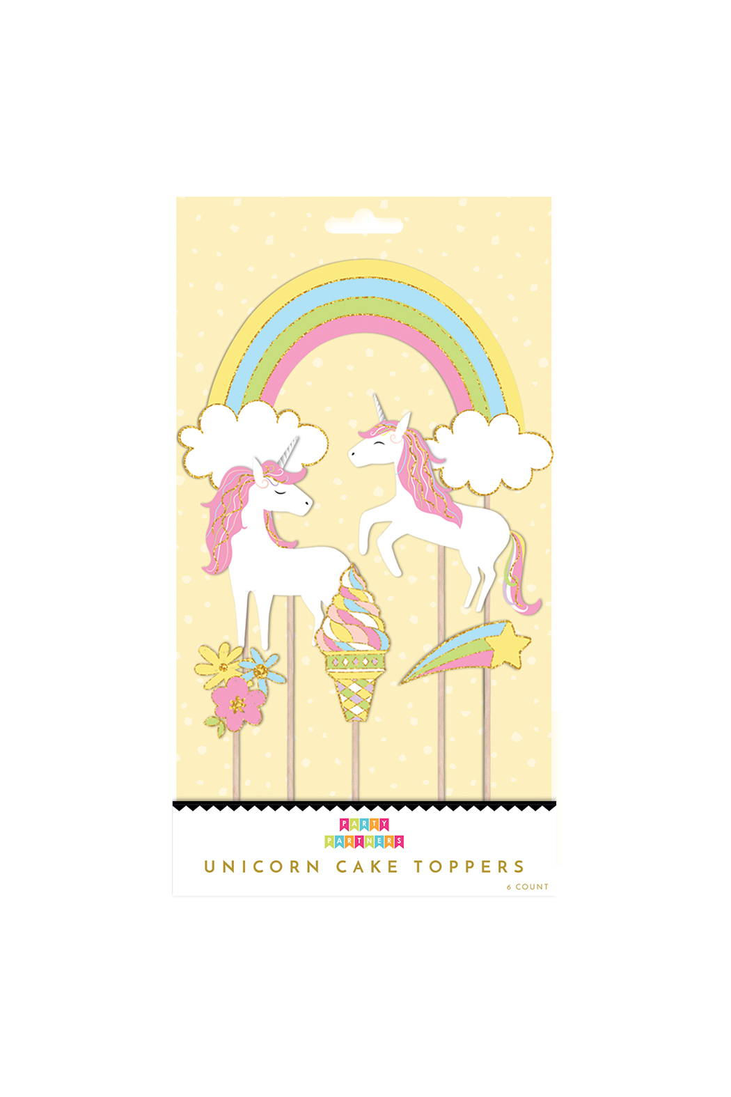 Party Partners Unicorns Cake Toppers - Main Image
