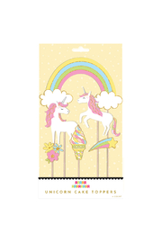 Party Partners Unicorns Cake Toppers - Front cropped
