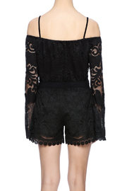 Union of Angels Black Lace Tunic - Back cropped