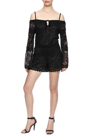 Union of Angels Black Lace Tunic - Front full body