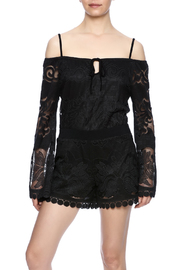 Union of Angels Black Lace Tunic - Front cropped