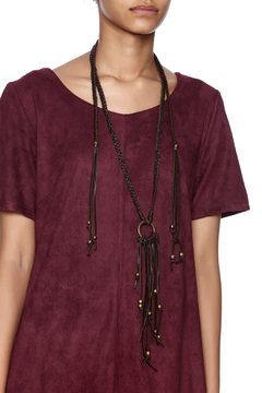 Union of Angels Long Leather Necklace - Alternate List Image