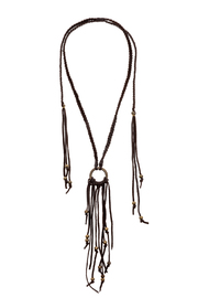Union of Angels Long Leather Necklace - Product Mini Image