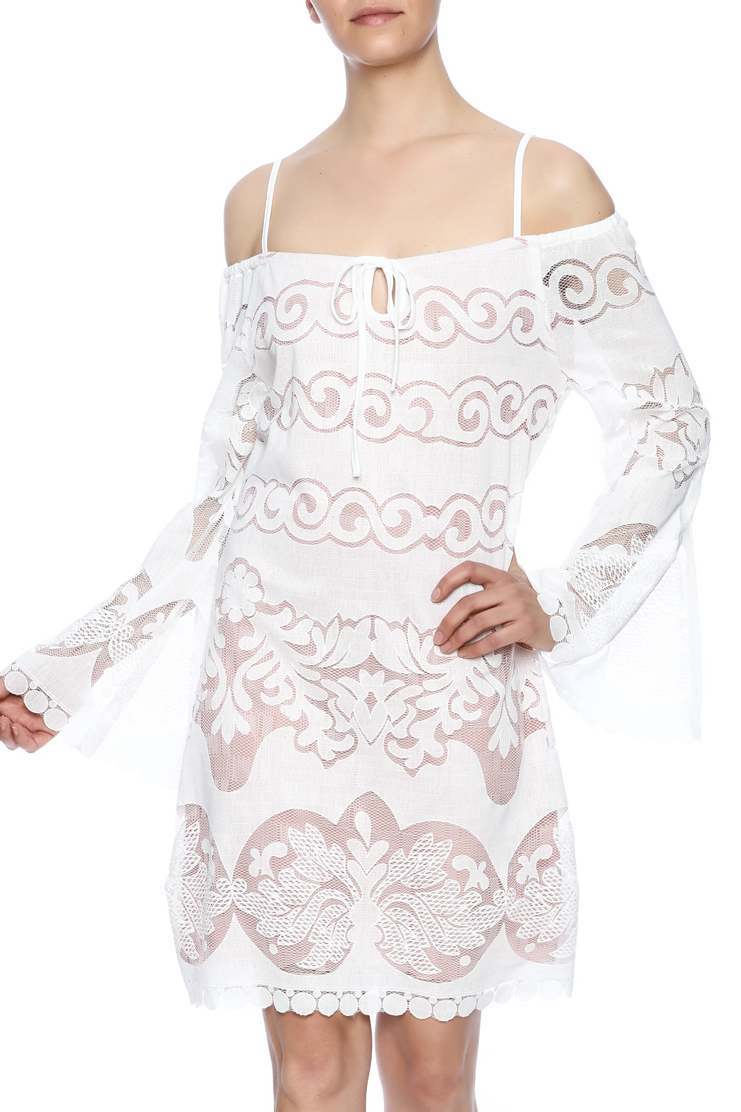 Union of Angels White Lace Dress - Main Image