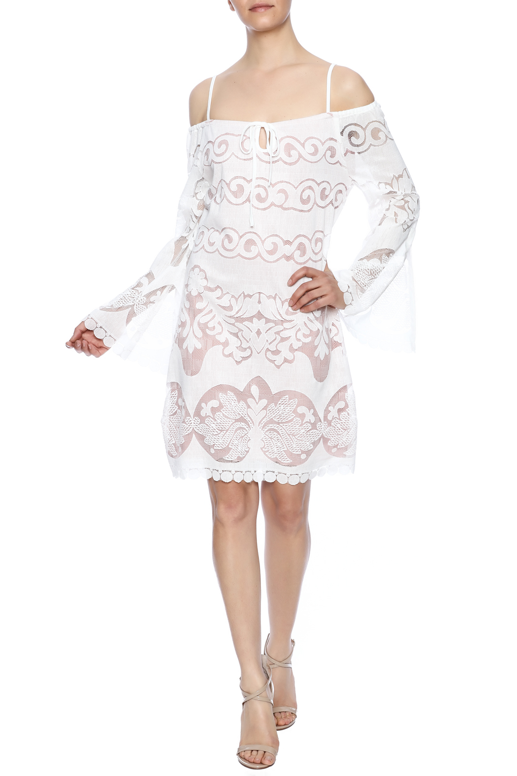 Union of Angels White Lace Dress - Front Full Image
