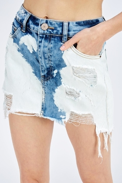 Uniq Acid Wash Skirt - Product List Image