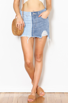 Shoptiques Product: Colorblock Denim Skirt
