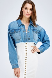 Uniq Cropped Denim Jacket - Product Mini Image