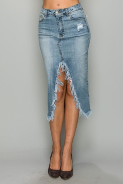 Shoptiques Product: Denim Slit Skirt
