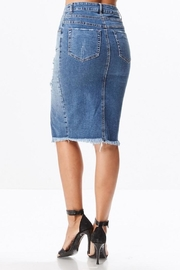 Uniq Distressed Pencil Skirt - Side cropped