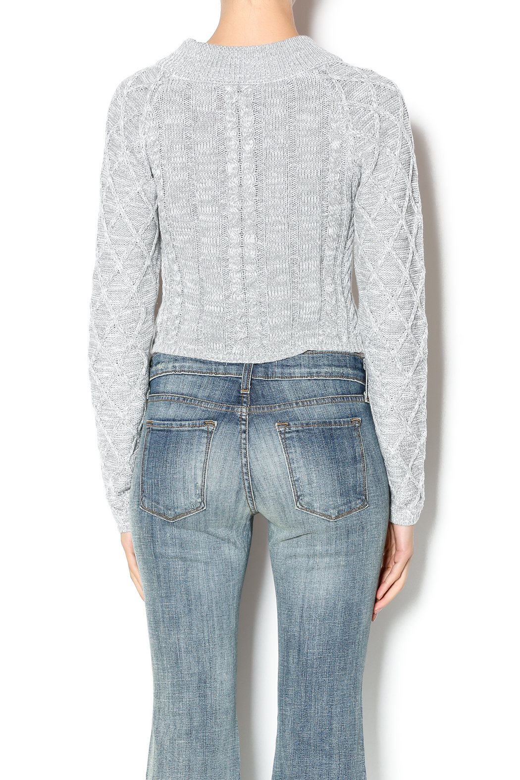 Uniq Grey Cropped Sweater from Montana by Foxwood Boutique ...