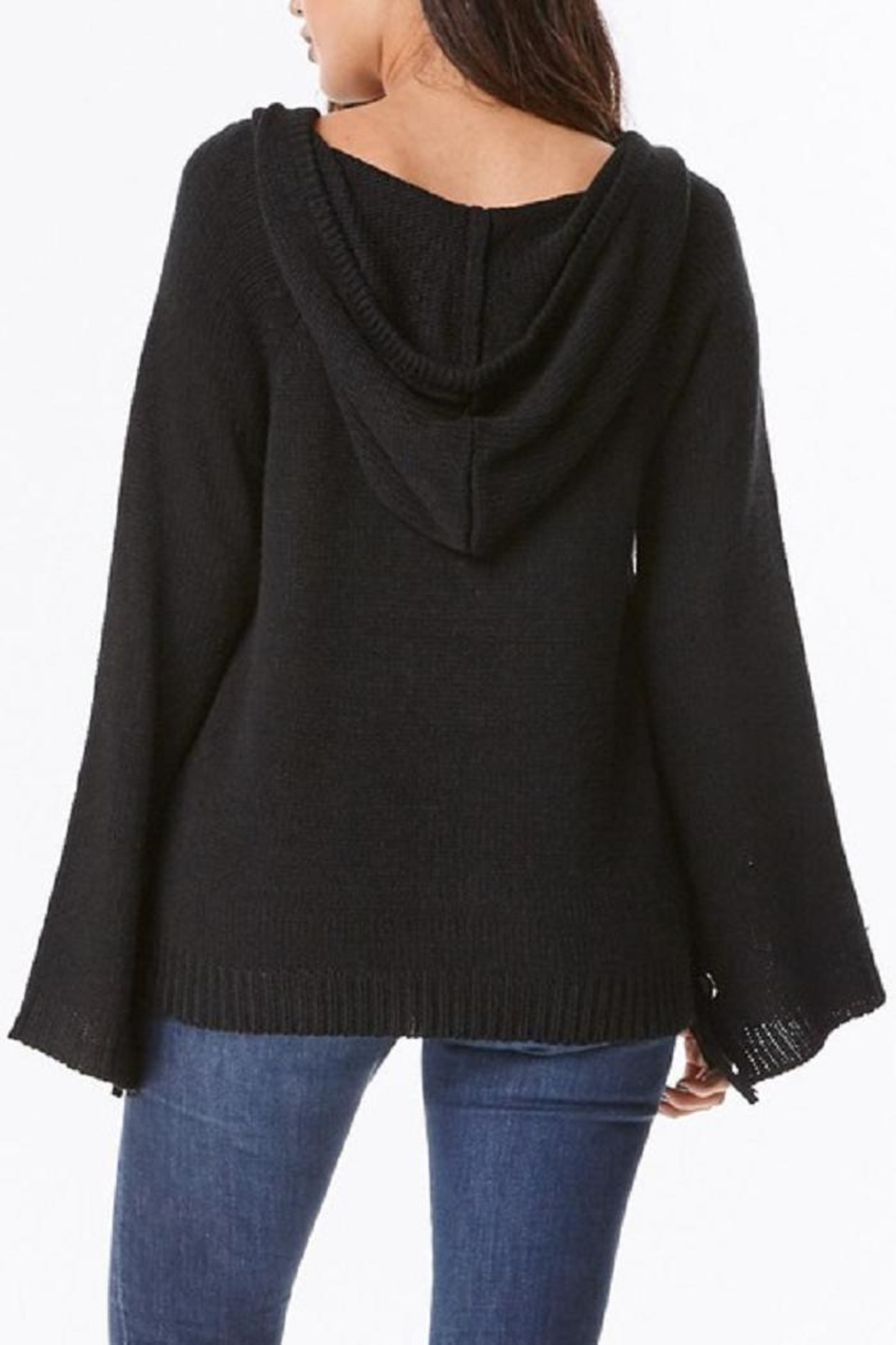 Uniq Hooded Bell Sleeve Top - Front Full Image