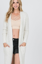 Uniq Long Fluffy Cardigan - Front full body