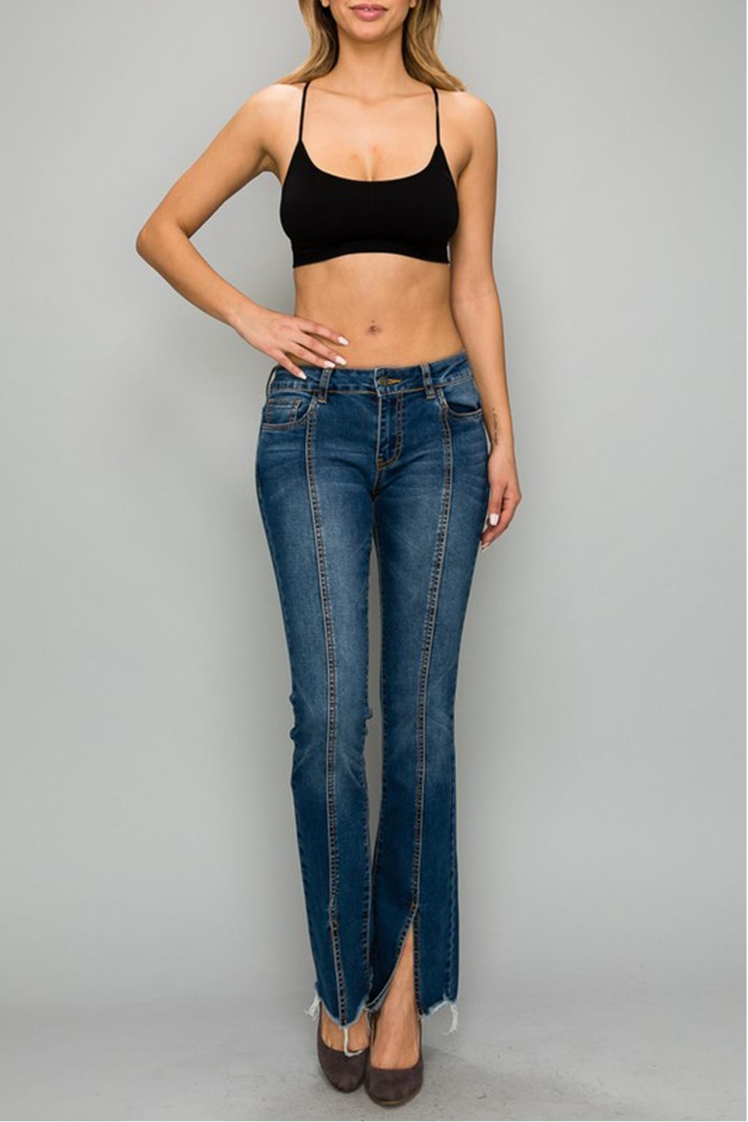 Uniq Pearl Detail Jeans - Back Cropped Image