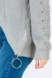 Uniq Side Zipper Sweater - Side cropped