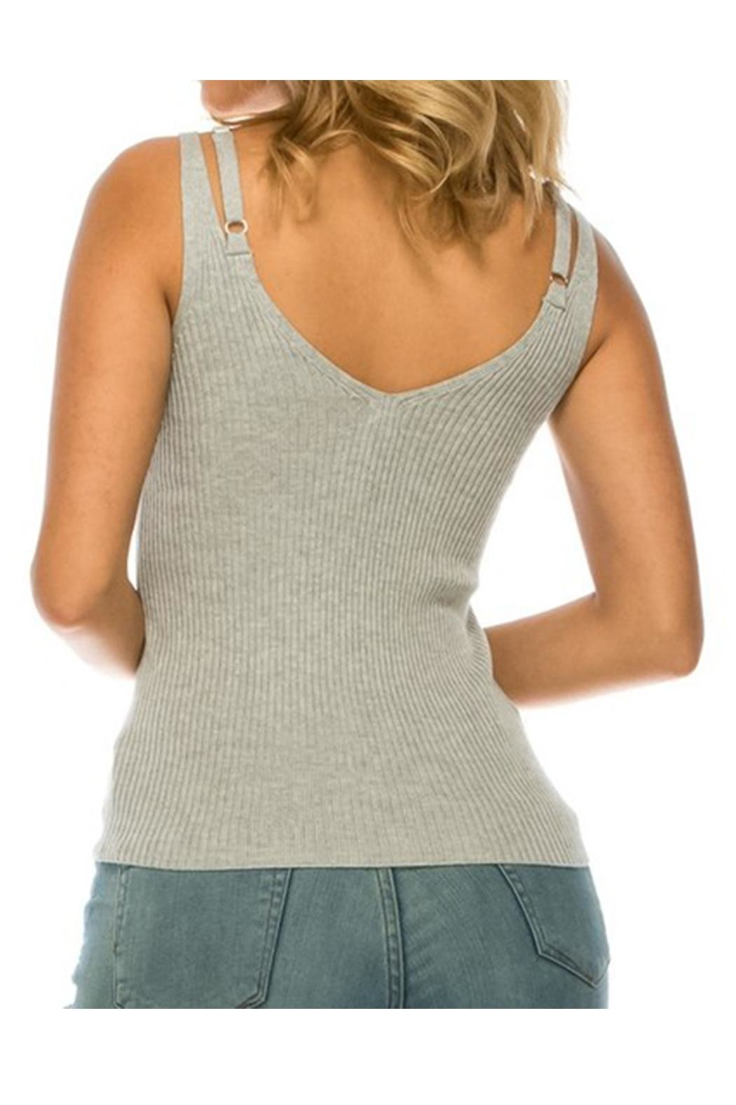 Uniq Solid Knit Tank - Side Cropped Image