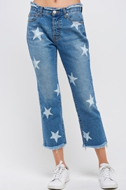 Uniq Star Print Capris - Product Mini Image