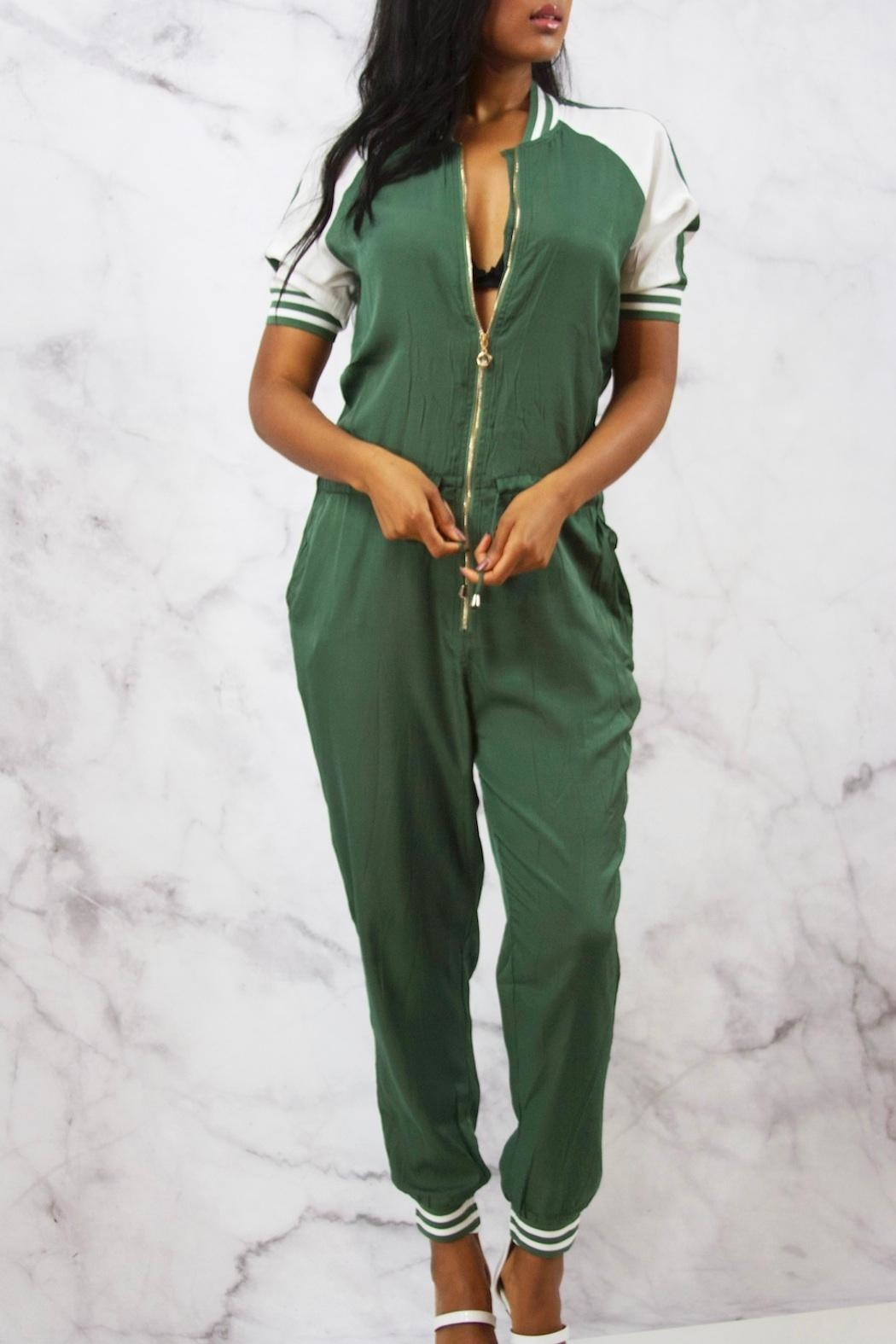 Uniqlo Silker Jogger Jumpsuit - Front Cropped Image