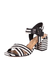 Unique Black&White Heeled Sandals - Product Mini Image