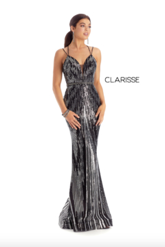 CLARISSE Unique Black Gown - Product List Image