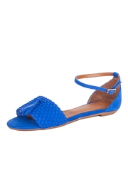 Unique Blue Suede Sandals - Product Mini Image