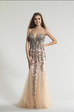 Dave and Johnny Unique Mermaid Gown - Product List Image