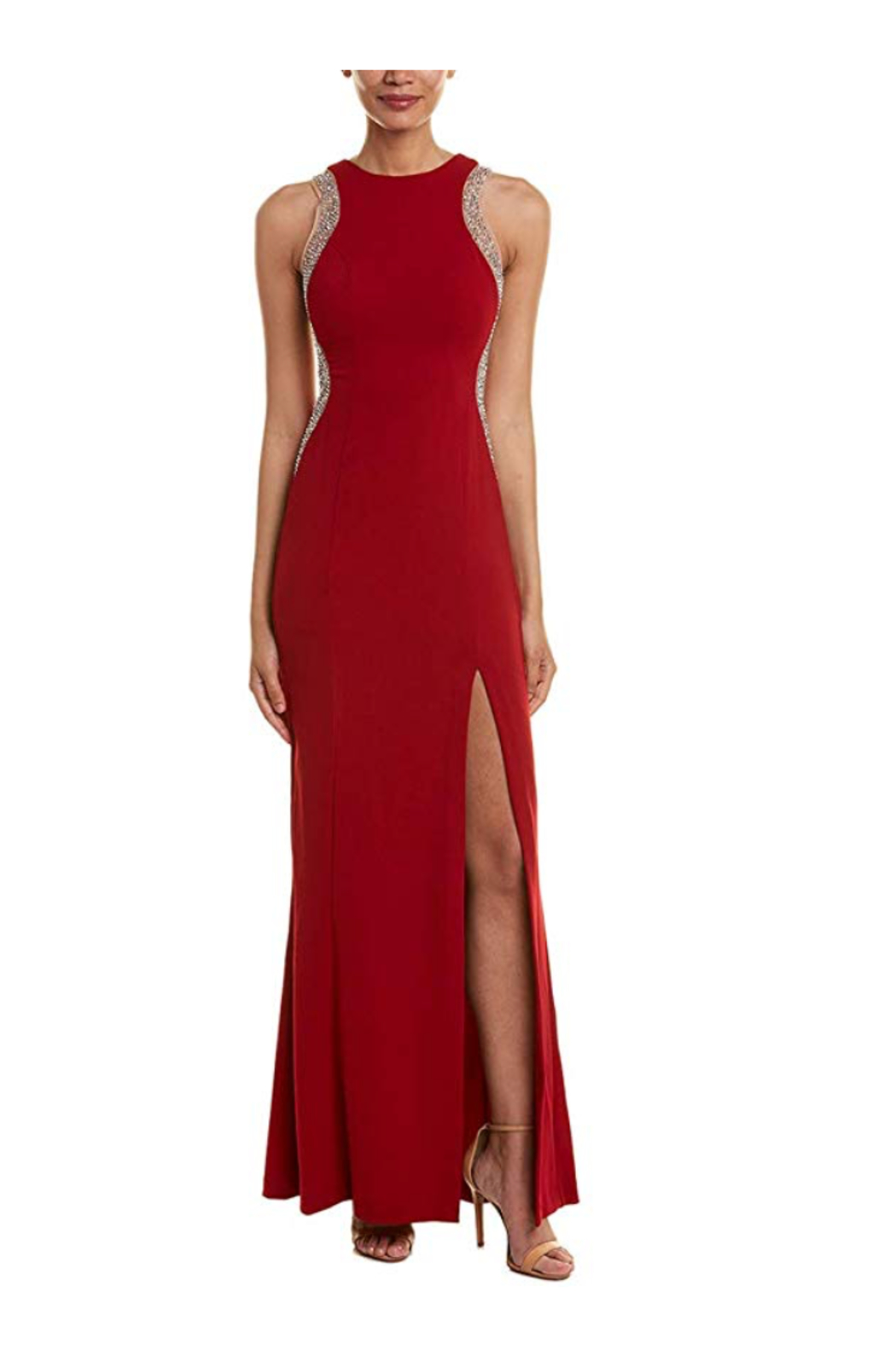 Issue New York Unique Red Gown - Front Cropped Image