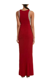 Issue New York Unique Red Gown - Front full body