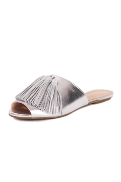 Shoptiques Product: Silver Leather Slippers
