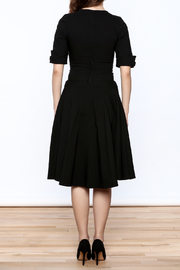 Unique Vintage Black Delores Dress - Back cropped