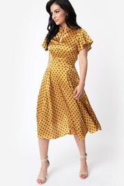 Unique Vintage Baltimore Polka-Dot Swing-Dress - Product Mini Image
