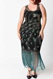 Unique Vintage Beaded Peacock Flapper - Front cropped