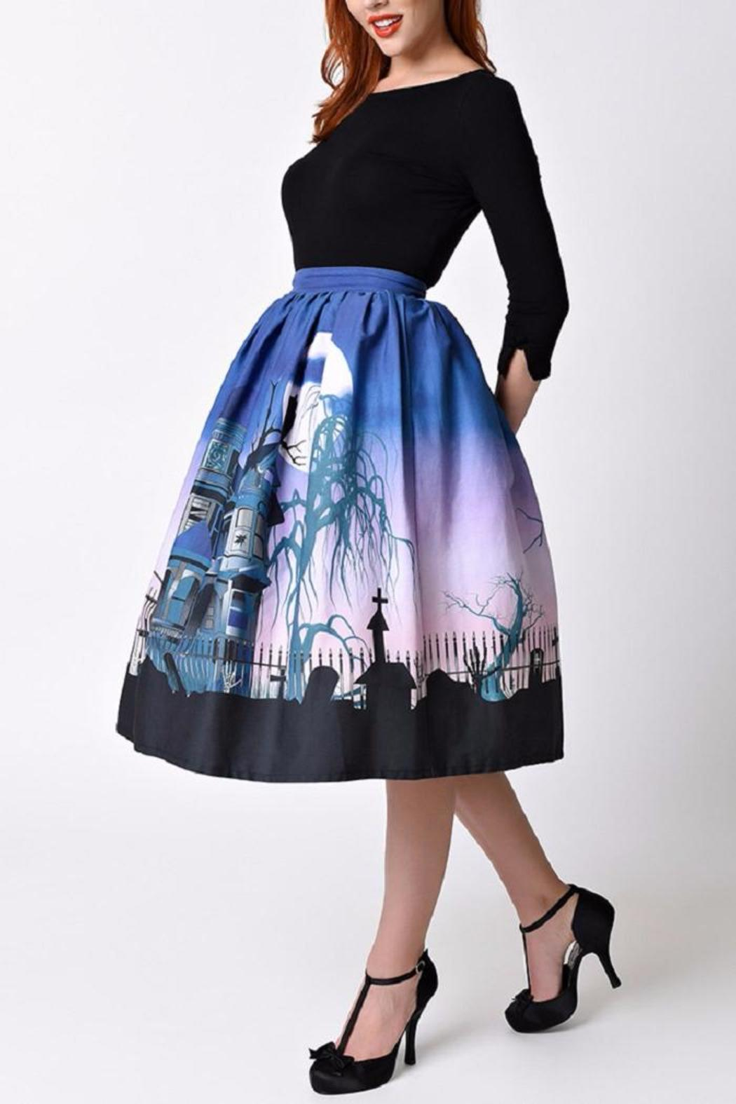 Unique Vintage Haunted Mansion Skirt - Front Full Image