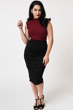 Unique Vintage Tracy Wiggle Skirt - Product List Image