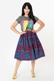 Unique Vintage Universal-Monsters Title-Print Swing-Skirt - Product Mini Image